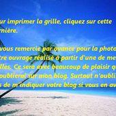 Grille gratuite point de croix : Petites affaires pour la plage - Le blog de Isabelle