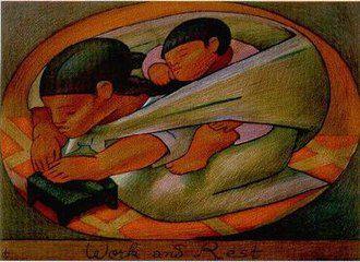 Auteur : Jean Charlot. peintre français et américain. Comme vous pouvez le deviner, il a vécu longtemps au Mexique.