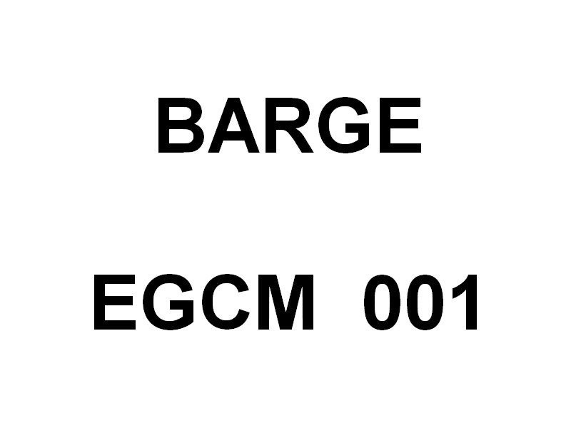 Barge EGCM 001 , arrivant à la Seyne sur Mer le 02 novembre 2019