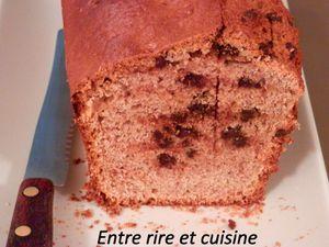 Cake à la farine de châtaigne et pépites de chocolat noir