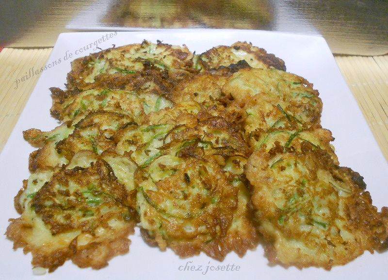 paillassons de courgettes