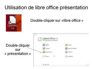 "Utiliser "" Open office présentation"""