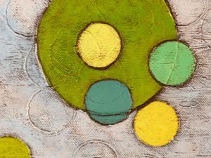 ronds verts, jaunes et bleus