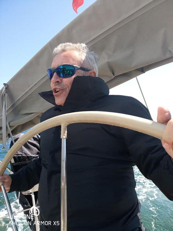 Première sortie en mer d'après confinement...sur Danseurs de Lune...que du bonheur !