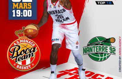 Sur quelle chaîne suivre AS Monaco Basket / JSF Nanterre en direct mardi ?