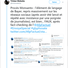 Glyphosate : ça Walecks la peine de fact-checker le fact-checkeur AFP Factuel
