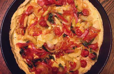 Omelette plate aux légumes d'été