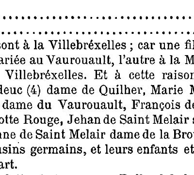 Questions sur la généalogie des de Saint Méloir 2