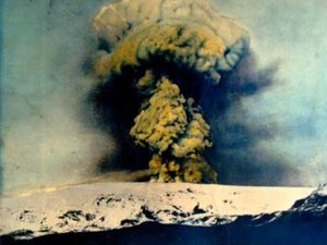The eruption of Katla in 1918 - Photo archive