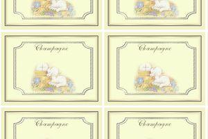 Etiquette champagne pour communion