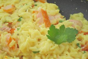 Le kedgeree : du haddock, du riz