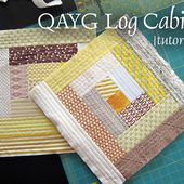 Stitched in Color: {Tutorial} Quilt-As-You-Go Log Cabins