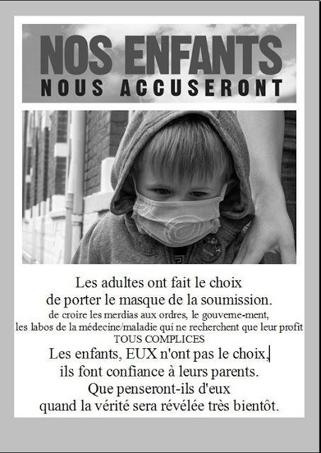 Protégez vos enfants de ces injections expérimentales mortifères - 03/09/2021.