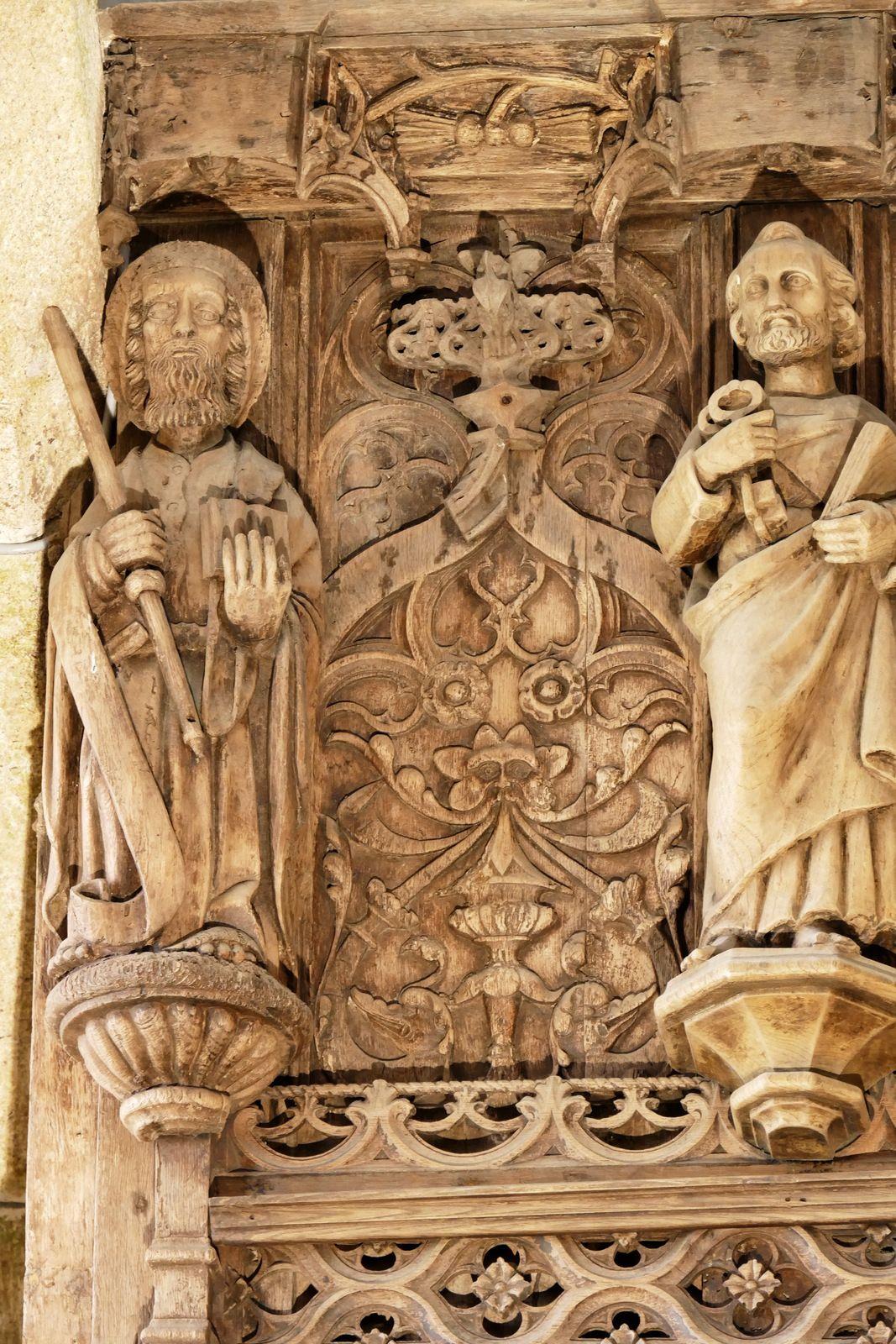 Jubé  (chêne, v. 1534 et Derrien 1877) de la chapelle de Lambader en Plouvorn. Photographie lavieb-aile.