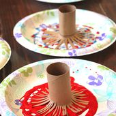 4th of July Kids Craft: Fireworks Painting - Happiness is Homemade