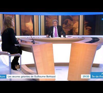 """Journal télévisé 19/20 sur FR3 TV Paris Ile-de-France   """"Des oeuvres géantes de Guillaume Bottazzi"""""""