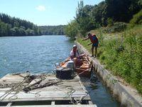 Déplacement du ponton en bois