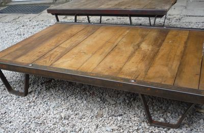 TABLE BASSE GRANDE PALETTE SNCF
