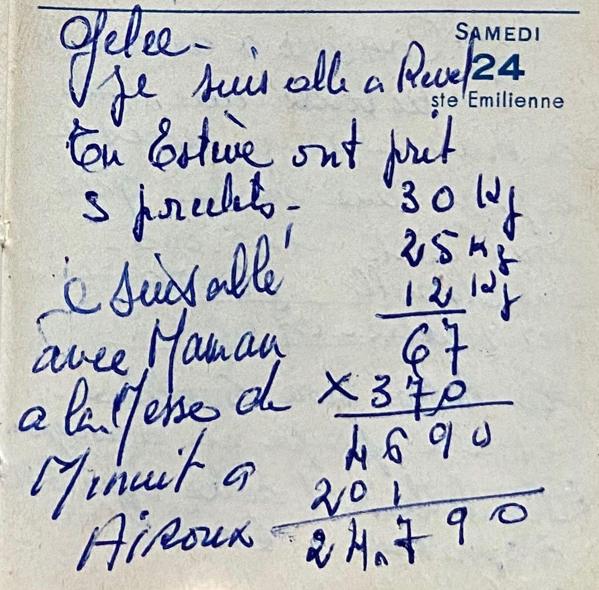 Samedi 24 décembre 1960 - la messe de minuit à Airoux