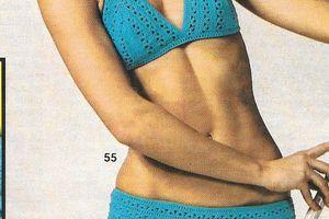 crochet : maillot de bain tailles 38 à 44