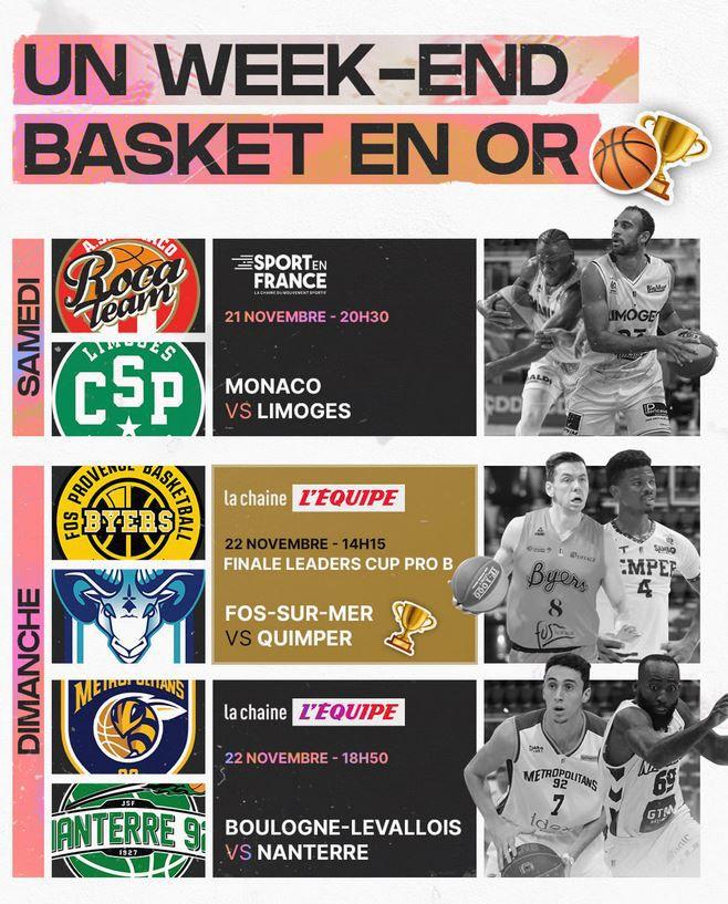 Boulogne-Levallois / Nanterre en direct ce dimanche sur la chaîne L'Equipe !