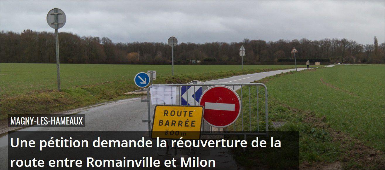 Association route de Romainville : Pour la réouverture de la route entre Romainville et Milon-la-chapelle !!