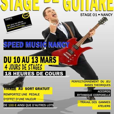 affiches des stages speed music
