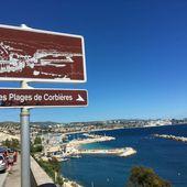 Marsactu - Plages de Corbières, le trajet se termine à pieds - Le petit Estaquéen