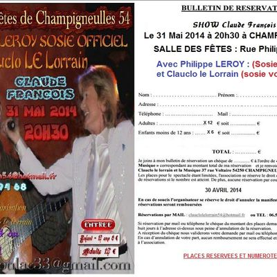 Spectacle Association Clauclo le lorrain 31 Mai 2014