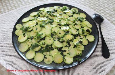 Courgette trompette en salade