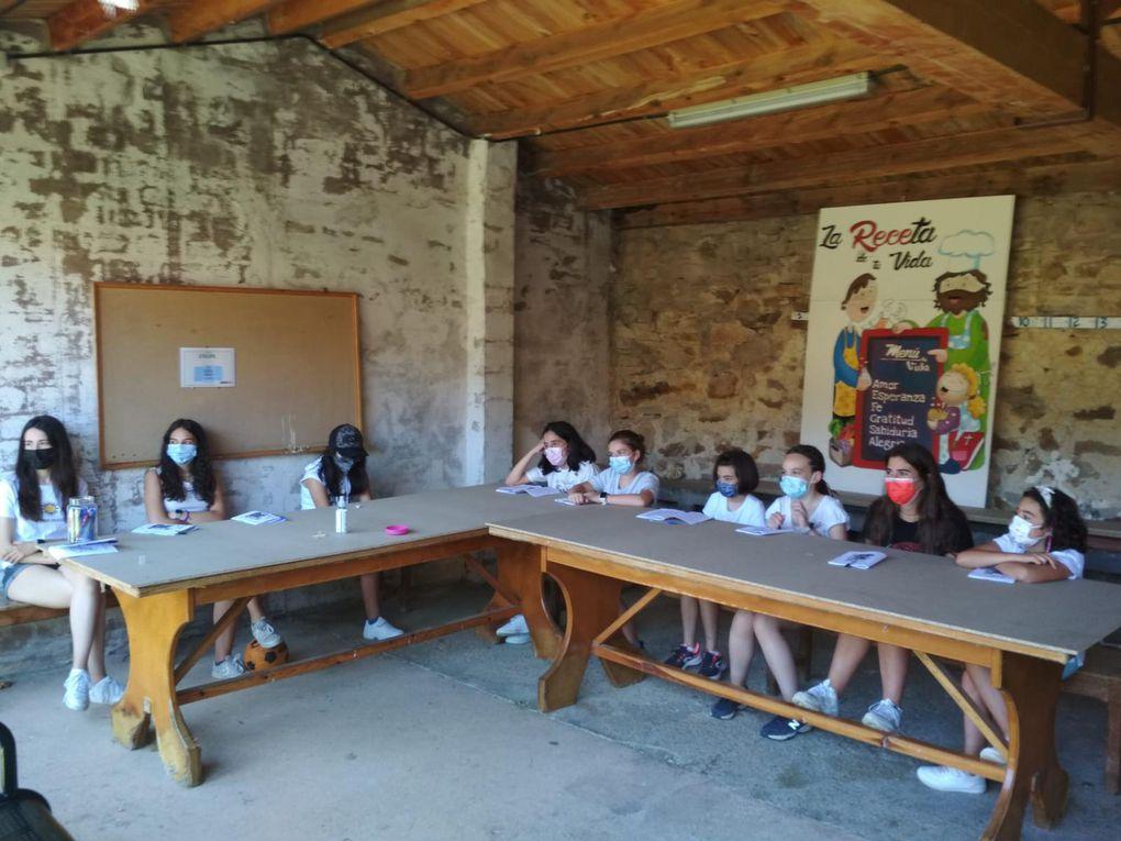"""Primer día de campamento en Pineda de la Sierra: """"la receta de tu vida"""""""