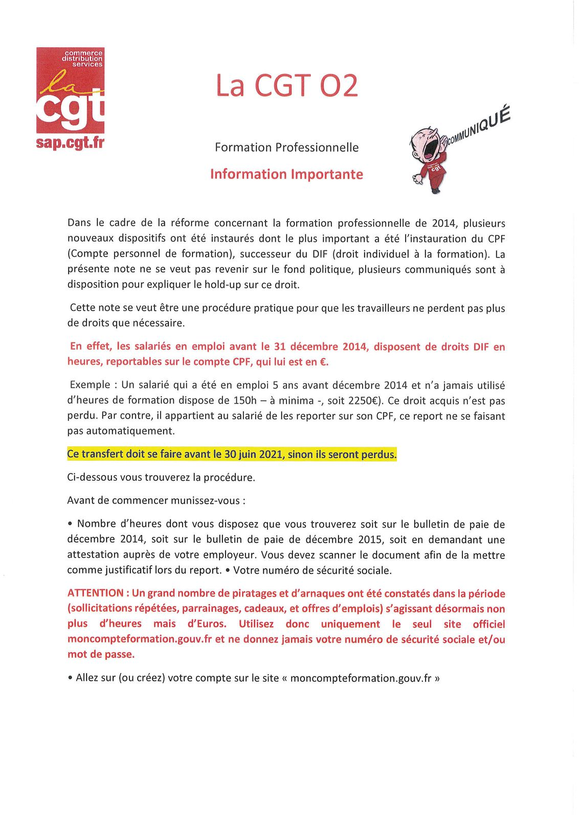 CGT O2 : Heures CPF