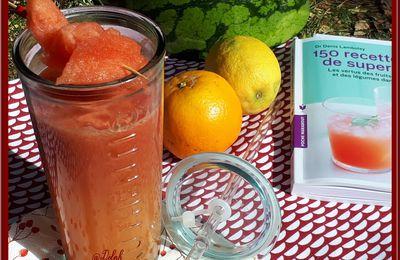 Jus de pastèque, orange et citron
