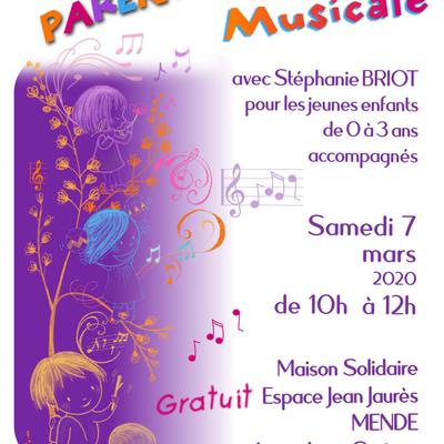 Parentaise Musicale à Mende le 7 mars à 10h