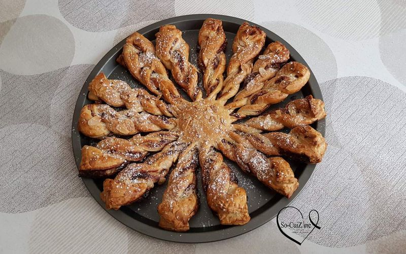 Tarte soleil banane-chocolat