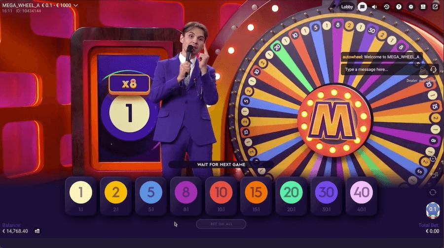 Mega Wheel : jeu casino en ligne live Pragmatic Play