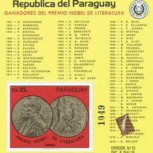 Lauréats des Prix Nobel de Littérature de 1901 à 1976