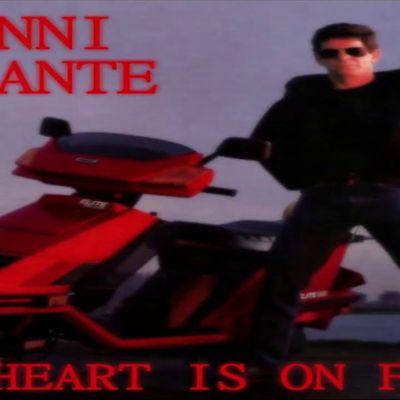 """Gianni Durante, un chanteur italien versé dans l'italo-disco et la synthwave, à noter le hit """"my heart is on fire"""""""