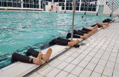 How many freedivers can you train in a single lane? :D