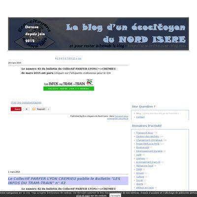 Le blog d'un éco-citoyen du Nord Isère