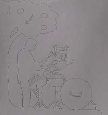 Girouette musicien perculinaire