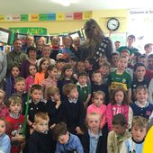 Chewbacca visited this primary school in Kerry straight from the set of Star Wars
