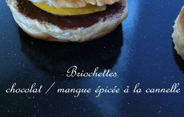 Briochettes Mangue chocolat façon Burger à la plancha