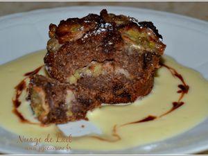 Muffins chocolat banane façon pudding pour Ker Cadélac