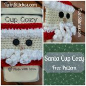Tw-In Stitches: Santa Cup Cozy - Free Pattern!