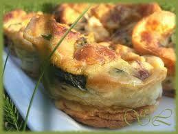 Clafoutis Brie, Noix et Dés de Dinde
