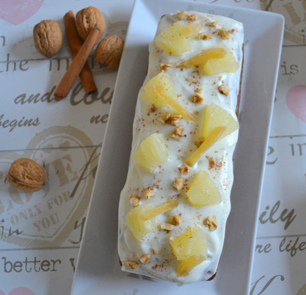 Cake ananas-carottes-noix et épices