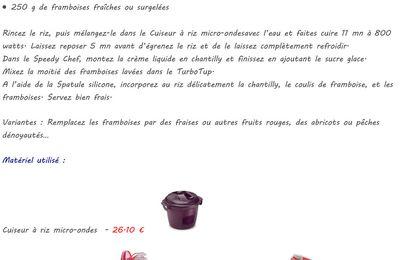 Riz chantilly framboises