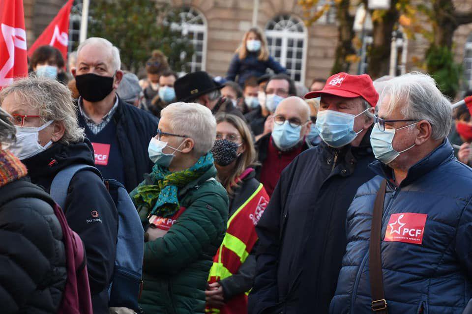 André et Patricia Paulus, Patick Gambache, Joël Helary, Roger Héré, photo Jean-Luc Le Calvez, 28 novembre 2020