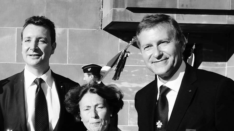 """15 octobre 2017: Cérémonie annuelle des """"Mémoires du Mont-Valérien"""" au Mémorial de la France Combattante, hommage à Lysiane Tellier."""